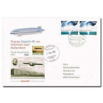 Flug zum Tag der Aerophilatelie 2003 - Zeppelinpost, Schweiz
