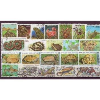Reptilien - 50 verschiedene Briefmarken