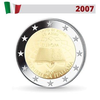 50 Jahre Römische Verträge, 2 Euro Münze 2007, Italien
