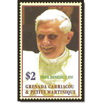 Papst Benedikt XVI. - Briefmarke postfrisch, Katalog-Nr. 4251, Grenada Carriacou & Petite Martin