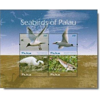 Seevögel - Briefmarken-Block postfrisch, Palau