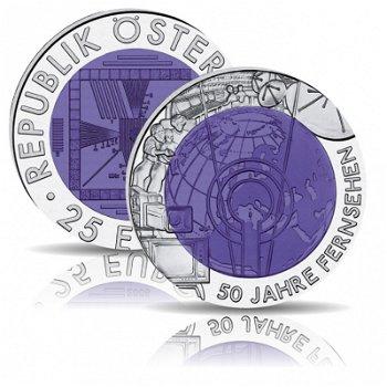 50 Jahre Fernsehen, Niob Münze 2005 Österreich