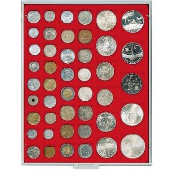 LINDNER Münzenbox, diverse quadratische Vertiefungen, LI 2145, Standard