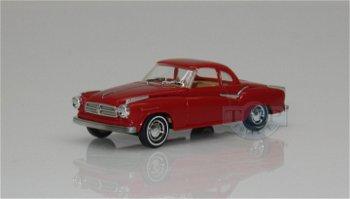 Modellauto:Borgward Isabella Coupé, rot(Busch, 1:87)