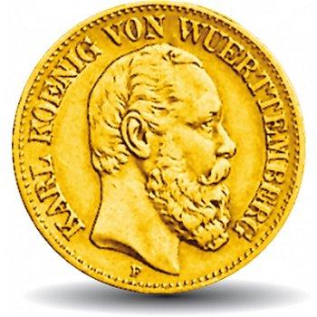 10 Mark Goldmünze König Karl, Königreich Württemberg, Katalog-Nr. 289