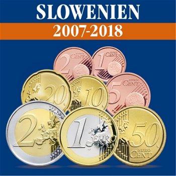 Slowenien - Kursmünzensätze alle Jahrgänge 2007-2018