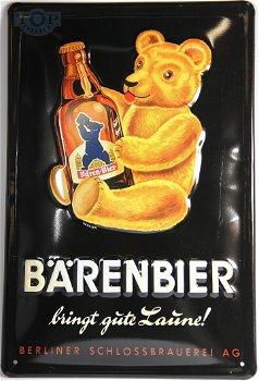 Blechschild:- Bärenbier - (20 x 30 cm)