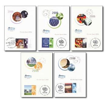 Für den Sport 2006 - 5 Maximumkarten, Kat.-Nr. 2517-2521, Deutschland