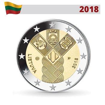 Gemeinschaftsausgabe - 100 Jahre Baltische Staaten, 2 Euro Münze 2018, Litauen