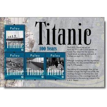 100 Jahre Titanic - Briefmarkenblock postfrisch, Palau