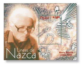 Das Geheimnis der Nazca-Linien - Block postfrisch, Peru