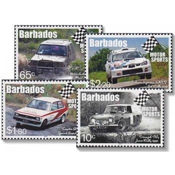 Motorsport - 4 Briefmarken postfrisch, Barbados