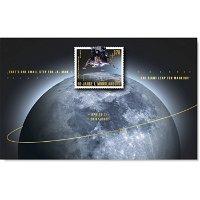 Weltraum: 50 Jahre 1. Mondlandung - Briefmarkenblock postfrisch, Deutschland