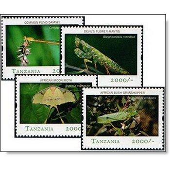 Insekten - 4 Briefmarken postfrisch, Tansania