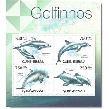 Delfine - Briefmarken-Block postfrisch, Guinea-Bissau