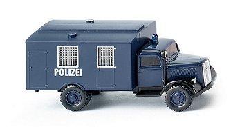 Modell-LKW:Opel Blitz - Polizei Gefangenentransport -(Wiking, 1:87)