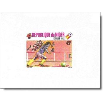 Fußballweltmeisterschaft 1982 - 5 Luxusblocks postfrisch, Katalog-Nr. 719-723, Niger