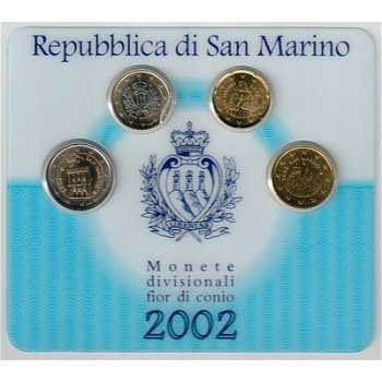 Kleiner Euro-Kursmünzensatz 2002, San Marino