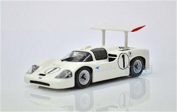 Modellauto:Chaparral 2F mit # 1 von 1967, weiss(Minichamps, 1:43)