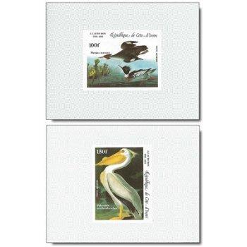 200. Geburtstags von John James Audubon - 4 Luxusblocks postfrisch, Katalog-Nr. 853B-856B, Elfenbein