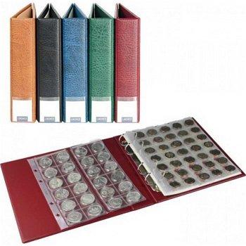 LINDNER Luxus-Münzalbum mit 10 Münzblättern, weinrot, S3570M - W