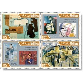 Pablo Picasso - 4 Briefmarken postfrisch, Katalog-Nr. 4948 - 4951, Malediven