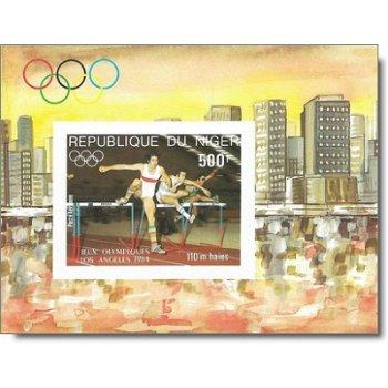 Olympische Sommerspiele 1984, Los Angeles - Briefmarken-Block ungezähnt postfrisch, Katalog-Nr. 881