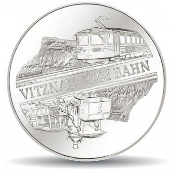 Die Rigi-Bahn, 20 Franken Münze 2008 Schweiz, Polierte Platte