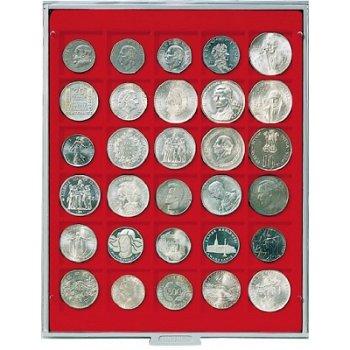 LINDNER Münzenbox, quadratische Vertiefungen 38mm, LI 2115, Standard