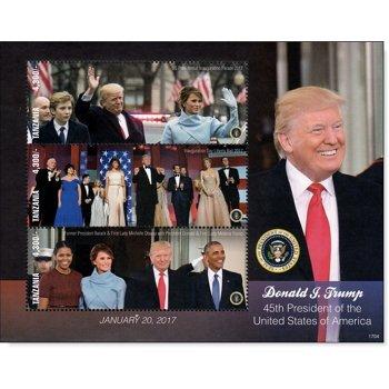 Donald Trump - Briefmarken-Block postfrisch, Tansania