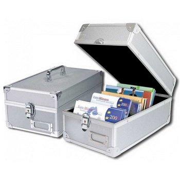 Alu-Koffer (z.B.für rechteckige Münzen-Sets oder Postkarten), Safe 160