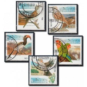 Freimarken 2013: Vögel - 5 Briefmarken gestempelt, Namibia