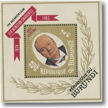 Winston Churchill - Briefmarken-Block 318A, Katalog-Nr. 315-318 postfrisch, Burundi
