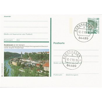 8263 Burghausen/Salzach - Bildpostkarte