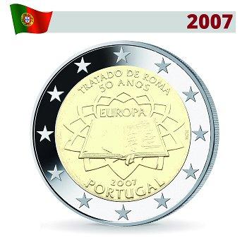 2 Euro Münze 2007, 50 Jahre Römische Verträge, Portugal