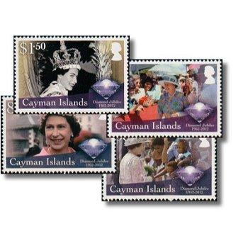 60. Thronjubiläum von Königin Elisabeth II - 4 Briefmarken postfrisch, Katalog-Nr. 1206-1209, Kaiman