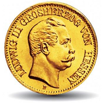 10 Mark Goldmünze, Ludwig III., Katalog-Nr. 216, Großherzogtum Hessen
