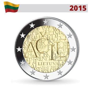 Die Litauische Sprache, 2 Euro Münze 2015, Litauen