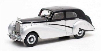 Modellauto:Bentley MK VI Countryman Mark II Saloon - Harold Radford - von 1951, schwarz-silber(Matri