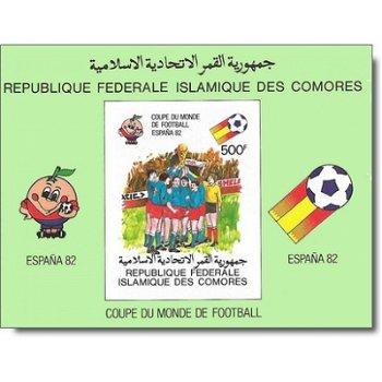 Fußball-Weltmeisterschaft 1982, Spanien – Briefmarken-Block postfrisch, ungezähnt, Katalog-Nr. 619,