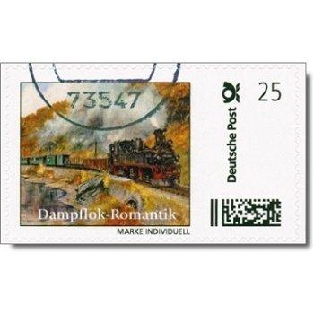 Dampflokomotive Weißeritztalbahn - Eisenbahnmarke Individuell gestempelt