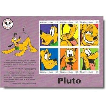 """70 Jahre Disney-Figur """"Pluto"""" - Briefmarken-Block postfrisch, Malediven"""