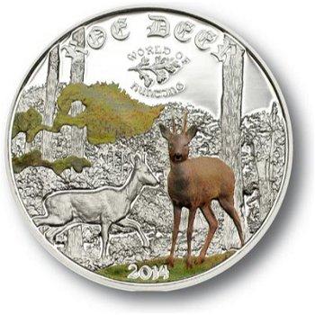 Zauberhaftes Reh, 2 Dollar Silbermünze, Cook Inseln