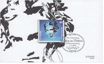 Ludwig van Beethoven - Block 85, Kat. 3513 gestempelt, Deutschland