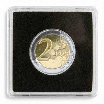 Münzkapseln QUADRUM, 26 mm, 10er Pack für 2 Euro-Münzen, Leuchtturm 329295