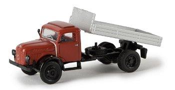 Modell-LKW:Steyr 380/I Kipper, rot-silber(Brekina, 1:87)