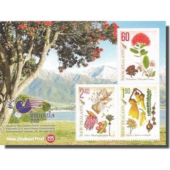 Indonesia 2012 - Briefmarkenausstellung - Briefmarken-Block, Neuseeland
