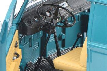 Modellauto:VW T2a Kastenwagen- Edition 50 Jahre VW T2 1967-2017 -, blau(Schuco, 1:18)