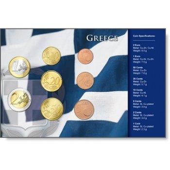 Euro Kursmünzensatz Griechenland, im Blister mit Zertifkat