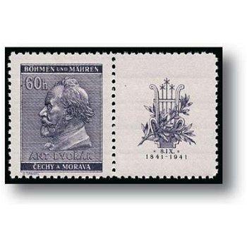 100. Geburtstag von Anton Dvorak - 2 Briefmarken postfrisch, Katalog-Nr. 73 - 74 Zf, Böhmen und Mähr